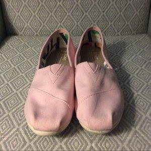 Toms Ballet Pink Flats 7.5